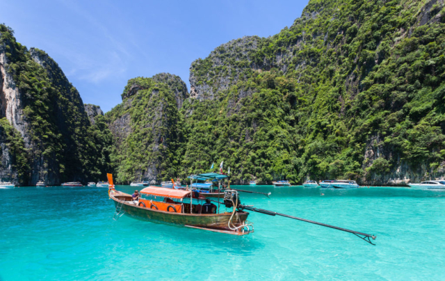 Long-tail boat in Phi Phi Lay Island, Thailand