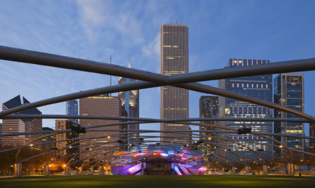 Jay Pritzker Pavilion, Chicago, Illinois, USA.