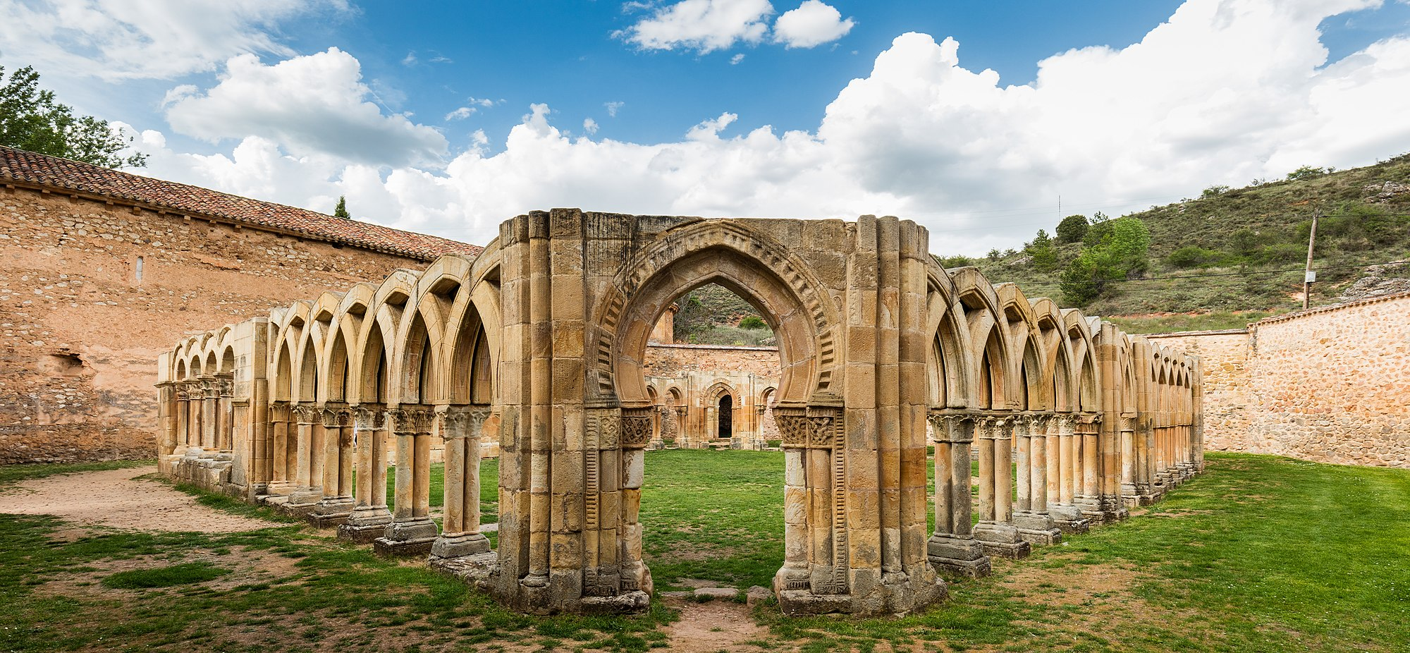 Remains of the Romanesque Monastery of San Juan de Duero, Soria, Spain. The temple, that belonged to the Knights Hospitaller, was erected in the 12th century and inhabitated until the 18th century.
