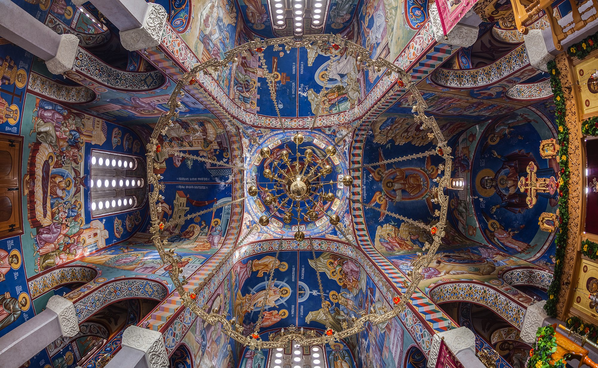 Interior of the Serbian Orthodox Hercegovačka Gračanica church, Trebinje, Republika Srpska, Bosnia and Herzegovina.