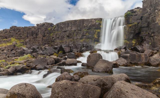 Öxarárfoss, Þingvellir National Park, Suðurland, Iceland.