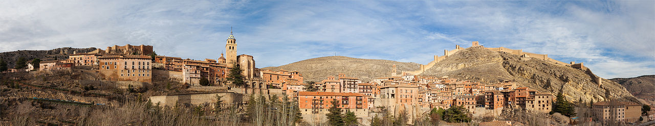Panoramic view of the medieval town of Albarracín, Teruel, Aragon, Spain.