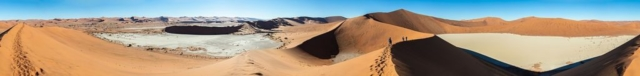 Panoramic view of the landscape around Sossusvlei, Namibia.