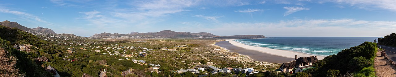 View of Noorhoek, a suburb of Cape Town with a population of ca. 32,000, South Africa.