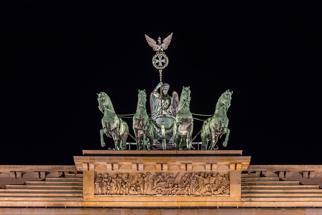 Quadriga of the Brandenburg Gate, Berlin, Germany.