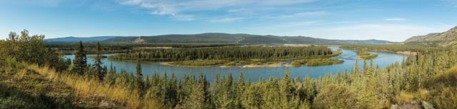 View of the Yukon River near Carmacks, Yukon, Canada.