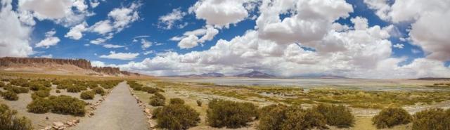 Tara Cathedrals (left) and the Tara salt flat in the Atacama Desert, northern Chile.