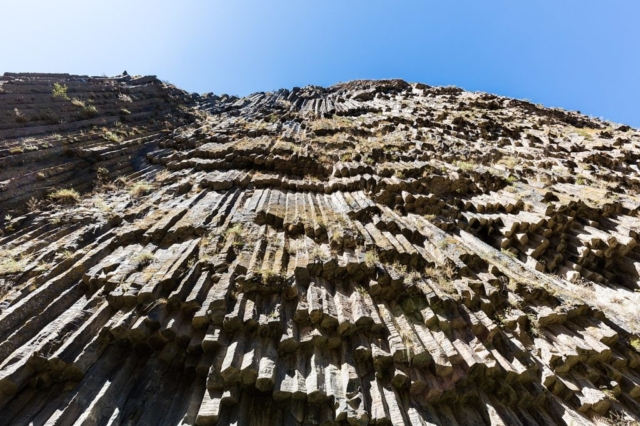 "These well-preserved basalt columns are known as ""Symphony of the Stones"" located in Garni Gorge, Armenia."
