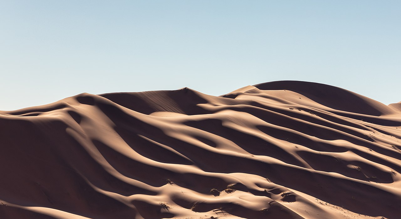 Dunes and shadows in Sossusvlei, Namibia.